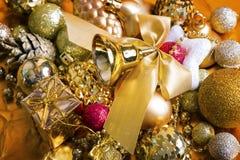 Fundo do ouro do Natal Fotos de Stock