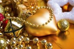 Fundo do ouro do Natal Imagem de Stock Royalty Free