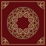 Fundo do ouro do vintage, quadro decorativo quadrado do vetor com pla Foto de Stock