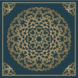 Fundo do ouro do vintage, quadro decorativo quadrado do vetor com pla Imagem de Stock Royalty Free