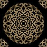 Fundo do ouro do vintage, quadro decorativo quadrado do vetor Pode ser Fotos de Stock Royalty Free