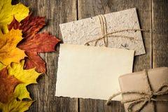 Fundo do outono, cartão thamksgiving Imagens de Stock Royalty Free