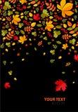 Fundo do outono com folhas ilustração do vetor