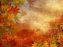 Fundo do outono com folhas da queda ilustração do vetor