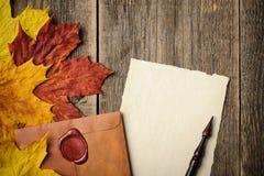 Fundo do outono, conceito thamksgiving Imagens de Stock