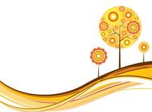Fundo do outono da árvore, vetor Fotografia de Stock Royalty Free