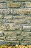 Fundo do outono da alvenaria de pedra da textura fotos de stock royalty free