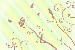 Fundo do pássaro ilustração stock