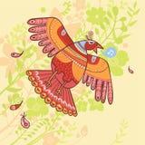 Fundo do pássaro de vôo ilustração do vetor