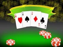 Fundo do póquer (01) Fotografia de Stock