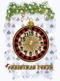 Fundo do pôquer do Natal, vetor Fotografia de Stock Royalty Free