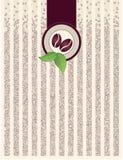 Fundo do pacote com feijões de café Fotografia de Stock
