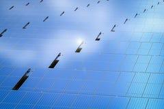 Fundo do painel solar Imagens de Stock