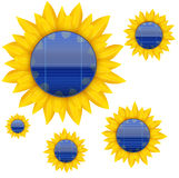 Fundo do painel solar bonde azul com Foto de Stock