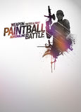 Fundo do Paintball ou do airsoft Imagem de Stock Royalty Free