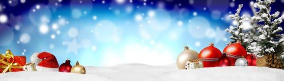 Fundo do panorama da bandeira do Natal Fotos de Stock Royalty Free