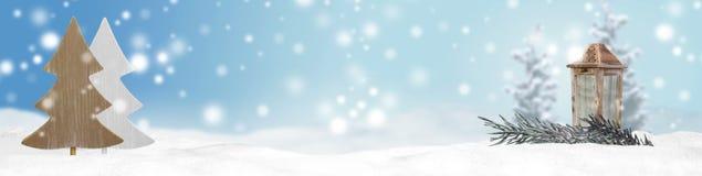 Fundo do panorama da bandeira do Natal Foto de Stock Royalty Free
