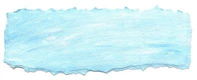 Fundo do papel azul com borda rasgada Fotos de Stock Royalty Free