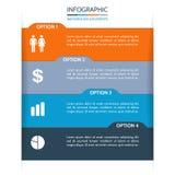 Fundo do papel de Infographic Foto de Stock