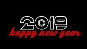 Fundo do papel de parede do ano 2019 novo feliz fotos de stock