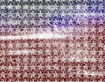 Fundo do papel de parede da bandeira de Grunge Fotografia de Stock