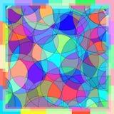 Fundo do papel de parede do mosaico da cor do quadro Ilustração do Vetor
