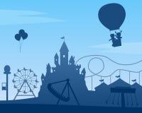 Fundo do parque de diversões Imagens de Stock Royalty Free