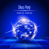 Fundo do partido, bola do disco ilustração royalty free