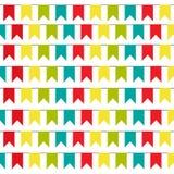 Fundo do partido com ilustração colorida do vetor das bandeiras Eps 10 teste padrão da estamenha ilustração do vetor