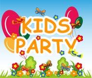 Fundo do partido das crianças Imagens de Stock Royalty Free