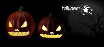 Fundo do partido de Halloween com abóboras Fotos de Stock