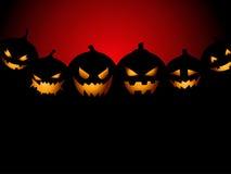 Fundo do partido de Halloween com abóboras Imagens de Stock