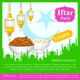 Fundo do partido de Iftar Foto de Stock Royalty Free