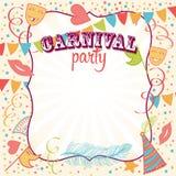 Fundo do partido do carnaval Imagens de Stock Royalty Free