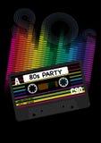 Fundo do partido do vetor 80s Fotografia de Stock