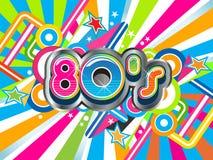 fundo do partido 80s Imagens de Stock Royalty Free