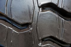 Fundo do pneu do caminhão pesado foto de stock