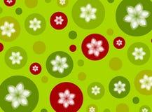 Fundo do Poinsettia do ponto de polca do Natal Fotos de Stock