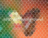 Fundo do polígono do arco-íris do redemoinho ou quadro colorido do vetor Fotos de Stock Royalty Free