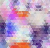 Fundo do polígono do arco-íris do redemoinho ou quadro colorido do vetor Imagens de Stock Royalty Free