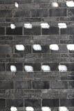 Fundo do ponto do sol da sagacidade de Grey Brick Imagens de Stock Royalty Free