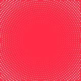 Fundo do pop art Pontos brancos no fundo vermelho Fundo de intervalo mínimo Ilustração Imagens de Stock Royalty Free