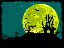 Fundo do poster de Halloween Fotografia de Stock