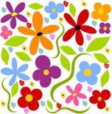 Fundo do prado da flor ilustração royalty free