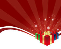 Fundo do presente de Cristmas Foto de Stock Royalty Free