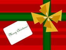 Fundo do presente de Natal Imagens de Stock Royalty Free