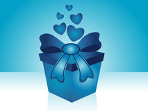 Fundo do presente do Valentim ilustração royalty free