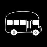 Fundo do preto do ônibus do símbolo Foto de Stock Royalty Free