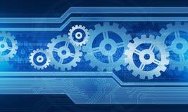 Fundo do processo da conexão da tecnologia Imagem de Stock