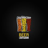 Fundo do projeto da etiqueta do vidro de cerveja Fotos de Stock Royalty Free